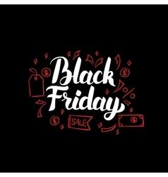 Black friday poster vector