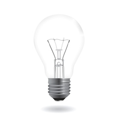 bulb realistic vector image