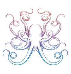 colorful octopus sketch vector image vector image