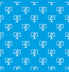 Computer monitor pattern seamless blue vector