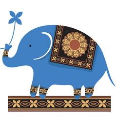 Cute blue elephant vector