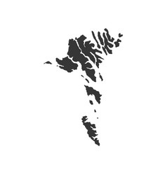 Faroe islands map outline vector