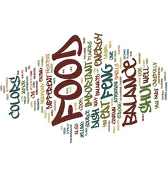 Food and feng shui text background word cloud vector