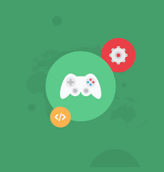gear and gamepad global programming flat il vector image vector image