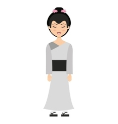 geisha japan girl isolated vector image