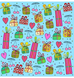 Gifts on a blue background vector