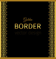 Golden vertical border with curls vector