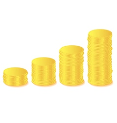 golds coin graph vector image vector image