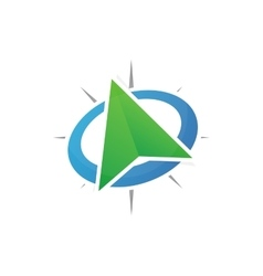 gps location logo vector image