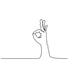 hand in ok sign on a white isolated background vector image vector image