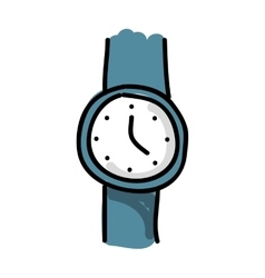 hand watch drawing isolated icon design vector image