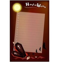 Open black coffin on halloween night background vector