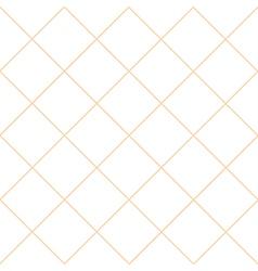Orange Grid White Diamond Background vector image vector image