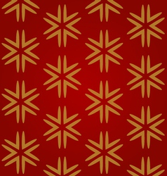 red seamless background with gold snowflakes vector image vector image