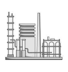 Refineryoil single icon in monochrome style vector