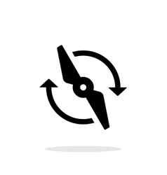 Rotor rotating simple icon on white background vector image