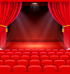 Scene cinema background art performance on stage vector