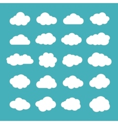 Set of Flat Clouds Icons Cloud Shapes collection vector image