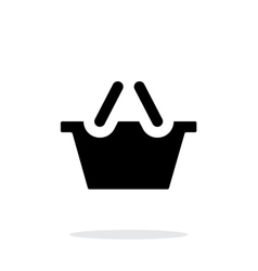 Shopping basket simple icon on white background vector