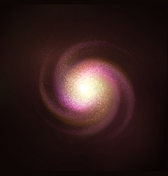 spiral galaxy cosmos object - vector image