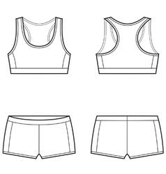 Sport underwear vector
