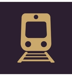 The train icon railway symbol flat vector