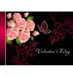 valentine rose illustration vector image