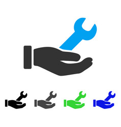 Wrench service hand flat icon vector