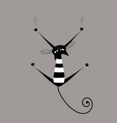 Funny striped cat for your design vector image