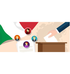 Italy democracy political process selecting vector