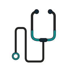 Color image cartoon stethoscope medical with vector