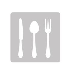 Cutlery for food vector