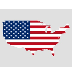 Map and flag of USA vector image