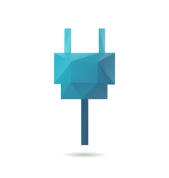 Plug abstract isolated vector