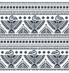 Seamless pattern with native american vector