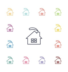 Cozy home flat icons set vector