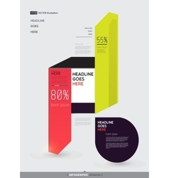 Modern abstract infographics elements arrows vector