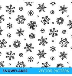 snowflakes background - stock vector image