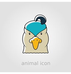 Quail flat icon animal head symbol vector
