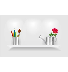 Shelf design vector