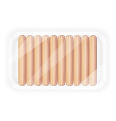 Sausages in packaging 02 vector