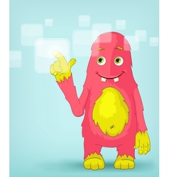 Funny monster touch screen vector