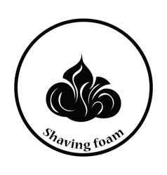 Shaving foam icon vector