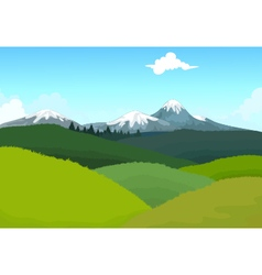 beauty hilly mountain with landscape background vector image