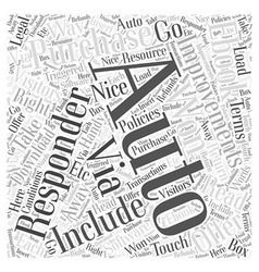 Autoresponder improvements word cloud concept vector