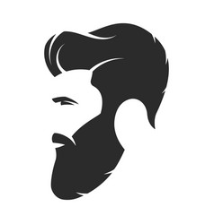 bearded man hipster style fashion silhouette vector image vector image
