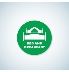 Bed and breakfast sticker dish cover vector