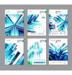 Blue business covers collection vector