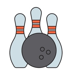bowling emblem vector image