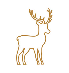 christmas deer animal horned decoration vector image